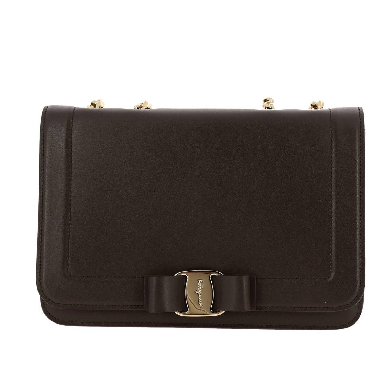 Shoulder bag women Salvatore Ferragamo dove grey 1