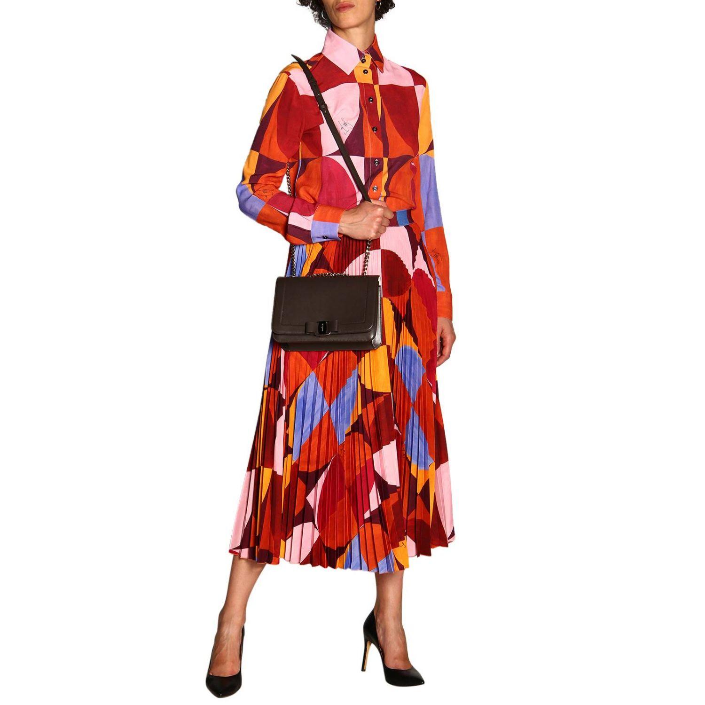 Shoulder bag women Salvatore Ferragamo dove grey 2