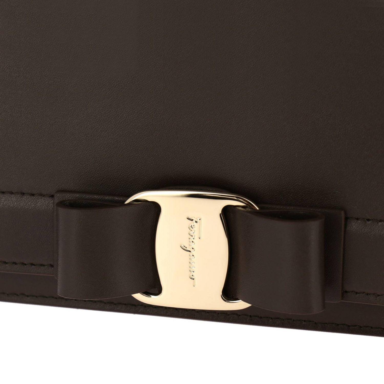 Shoulder bag women Salvatore Ferragamo dove grey 4