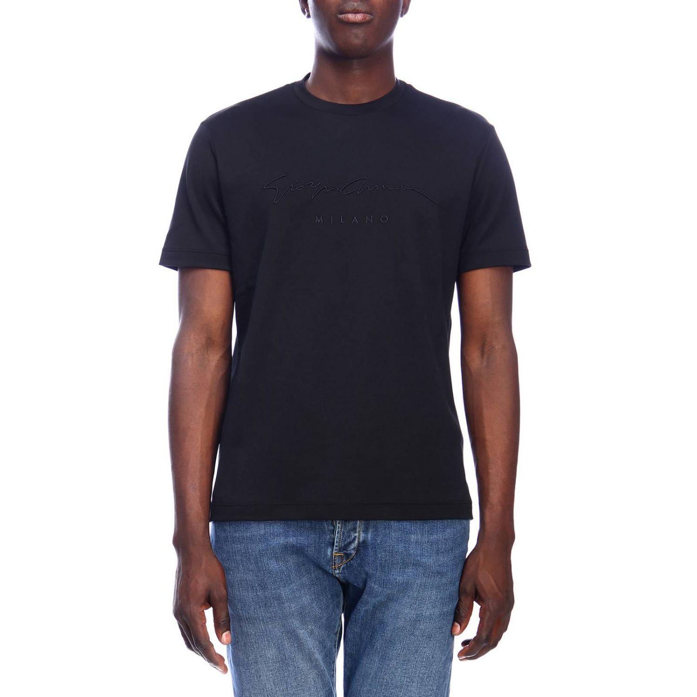 T-shirt men Giorgio Armani black 1