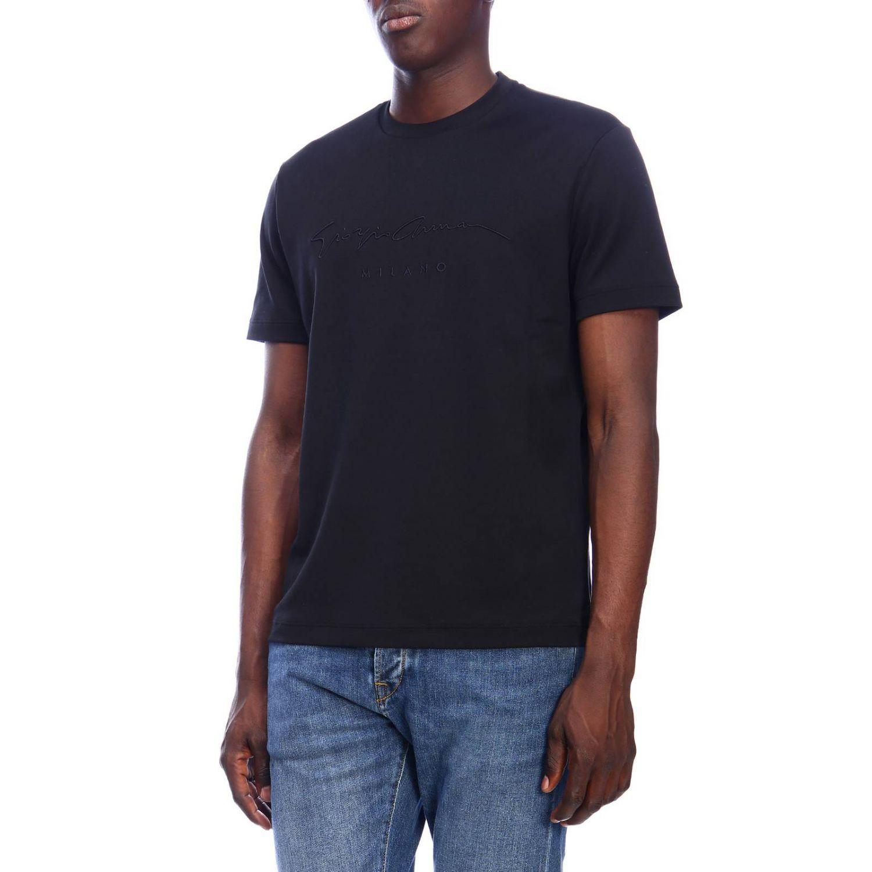 T-shirt men Giorgio Armani black 2