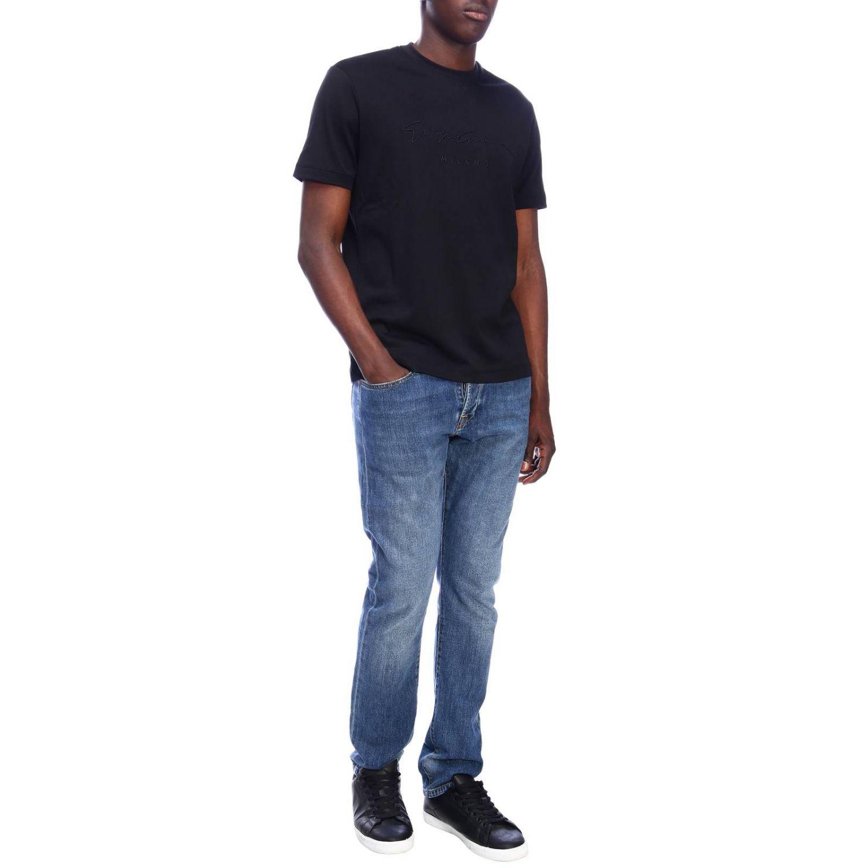 T-shirt men Giorgio Armani black 4