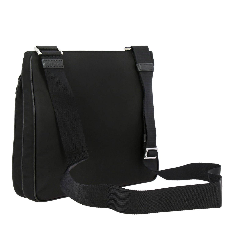 Bandolera Prada de nylon con logo triangular negro 3