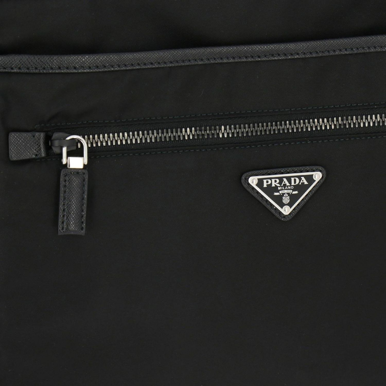 Bandolera Prada de nylon con logo triangular negro 4
