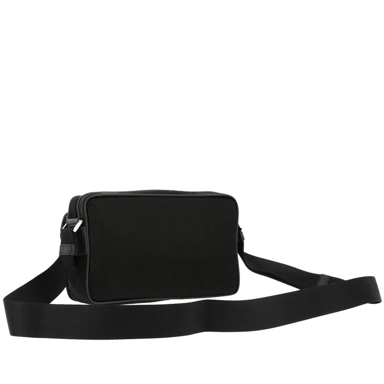 Prada Camera nylon bag with triangular logo and buckle black 3