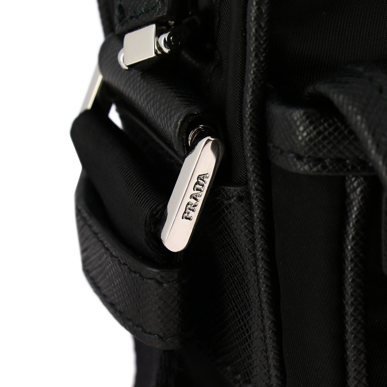 Prada Camera nylon bag with triangular logo and buckle black 4