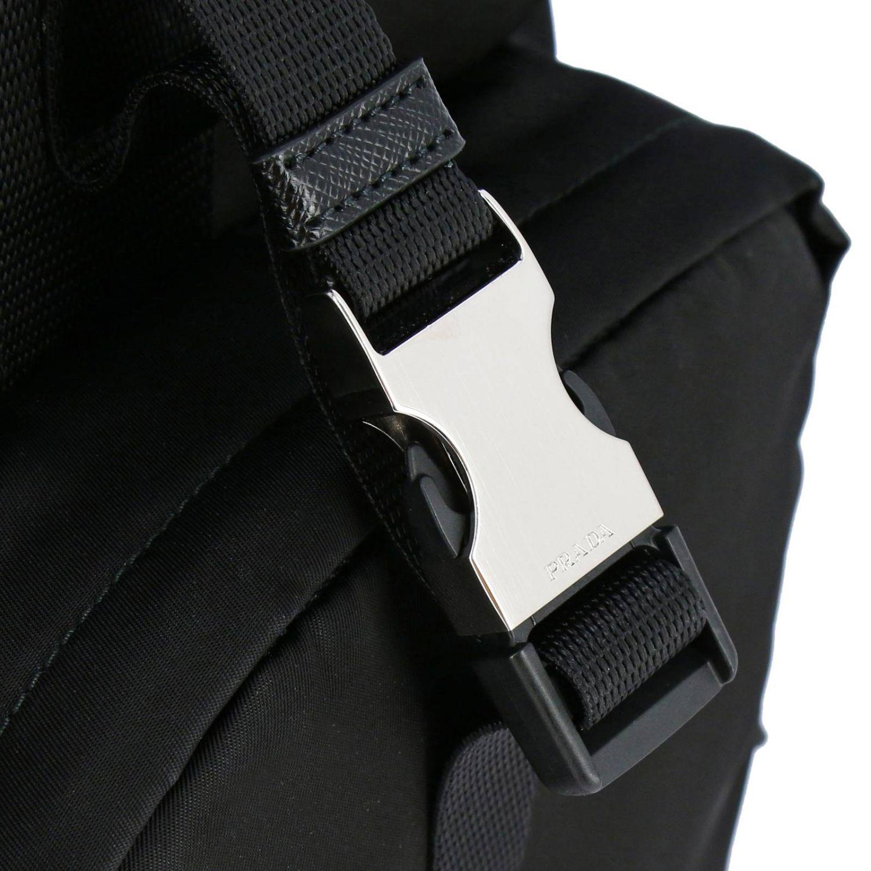 Sac cabas shopping bag Prada en nylon avec maxi-poches et logo triangulaire noir 5