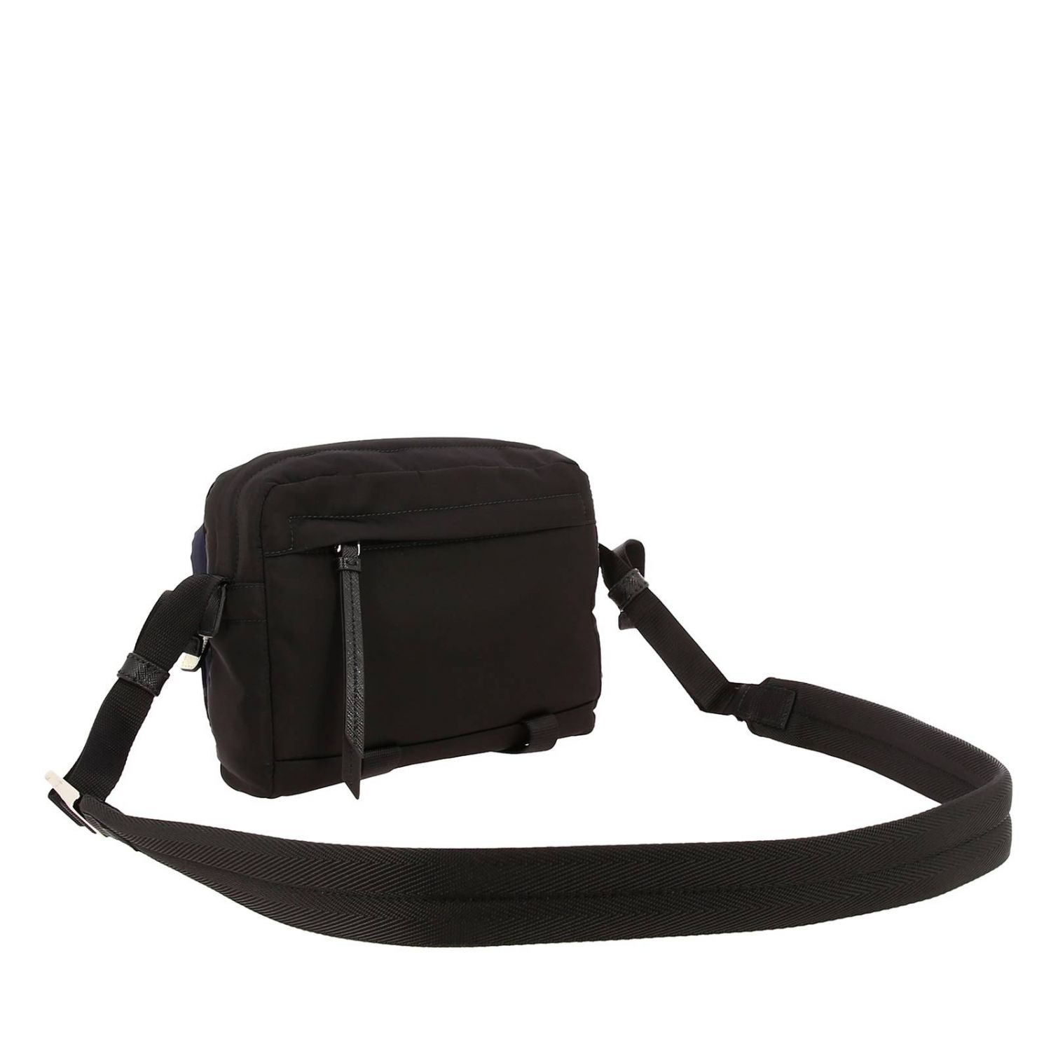 Bandolier Camera Bag in Nylon with camouflage details and contrasts black 3