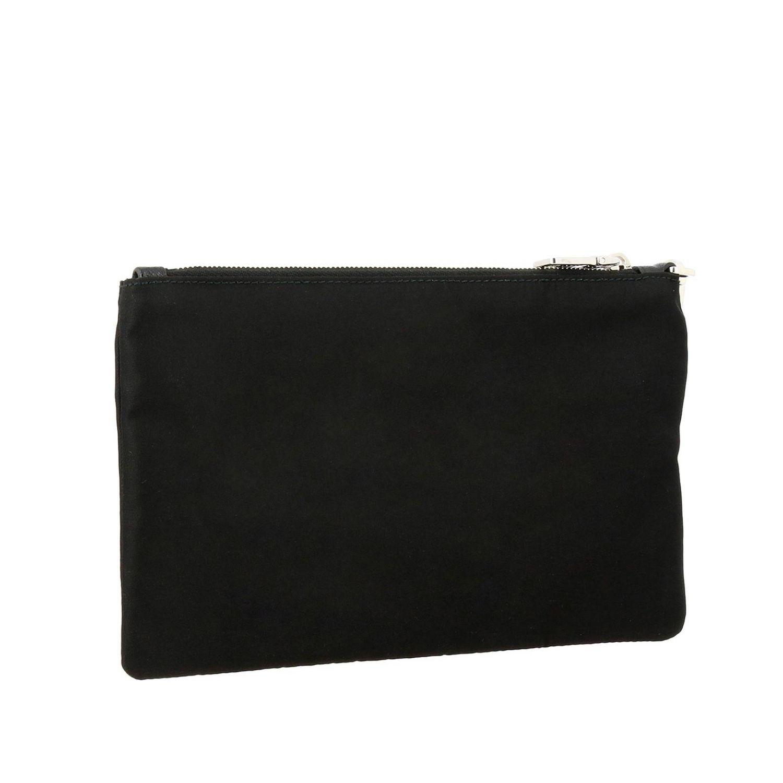 Prada Beauty Case aus Nylon mit dreieckigem Logo schwarz 3