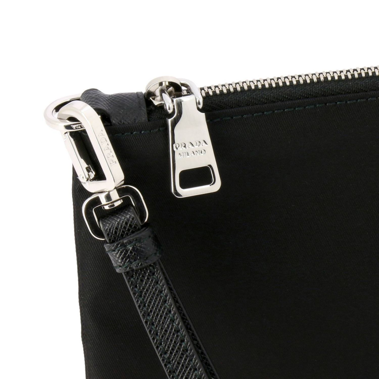Prada Beauty Case aus Nylon mit dreieckigem Logo schwarz 4