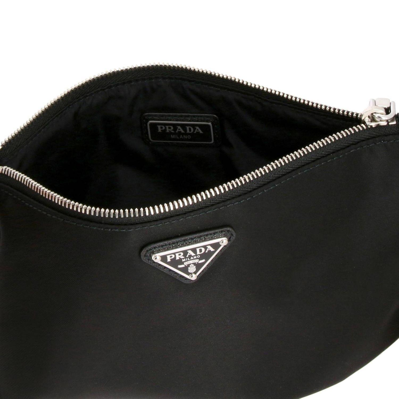 Prada Beauty Case aus Nylon mit dreieckigem Logo schwarz 5