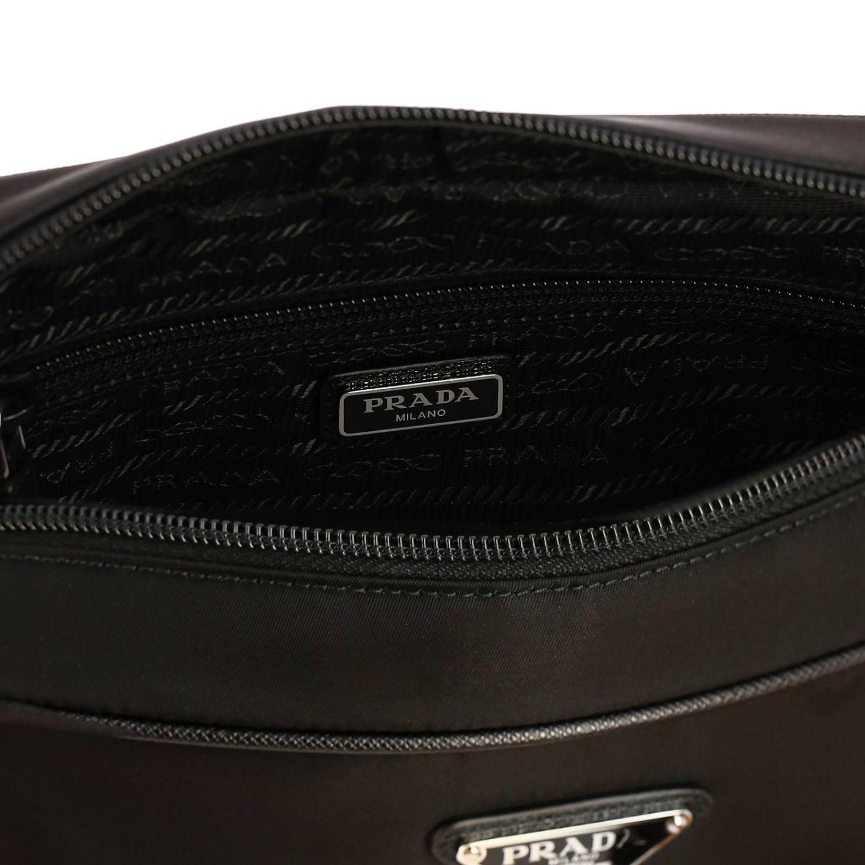 Beauty Case moyen en nylon avec logo Prada triangulaire noir 4