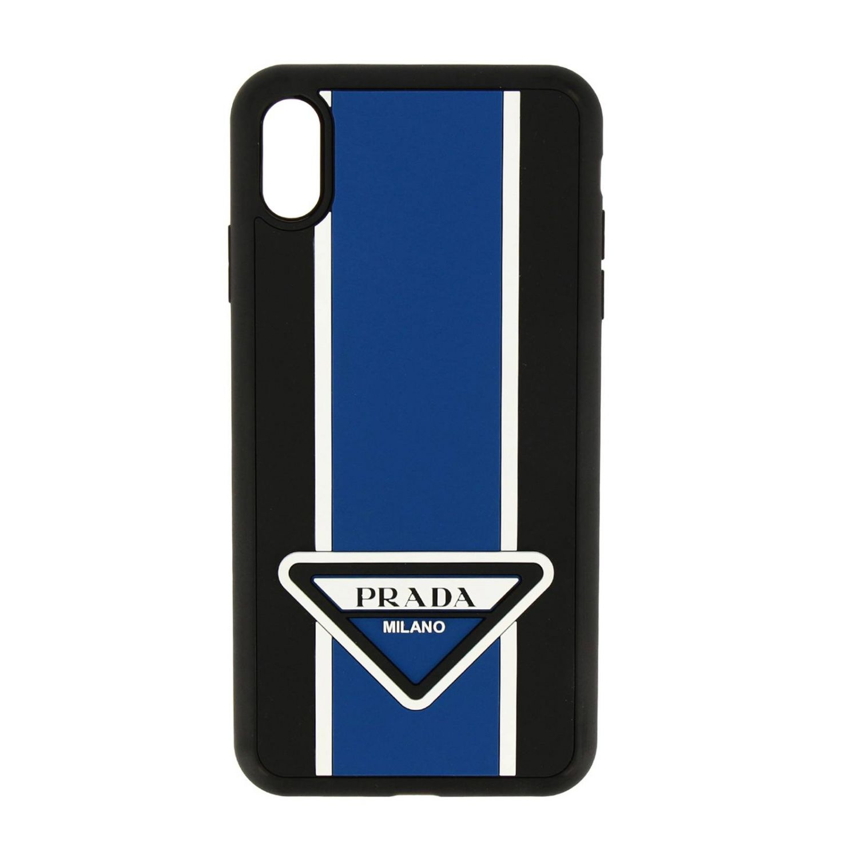 Funda de goma Prada para Iphone XS con logo triangular negro 1