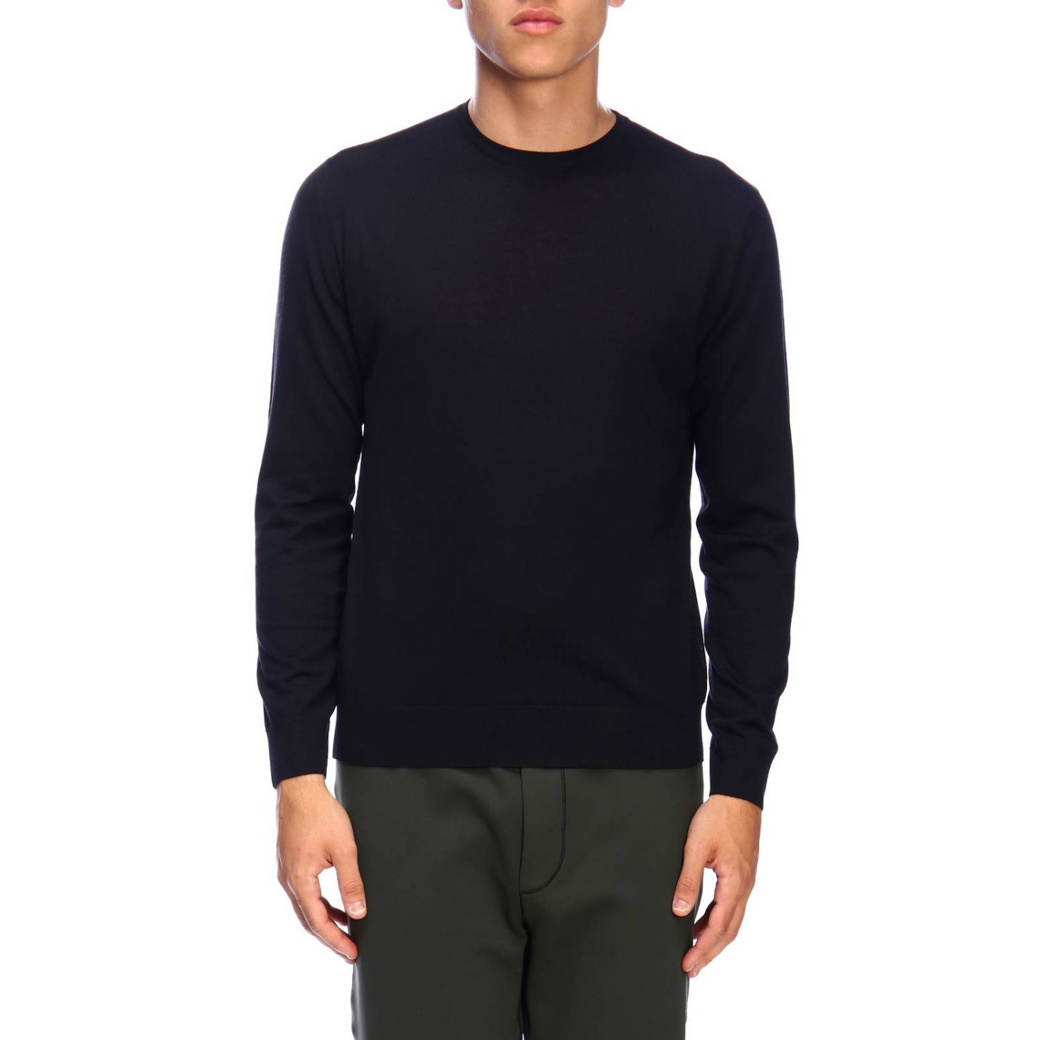 Prada knit sweater in worsted wool with a fineness of 30 black 1