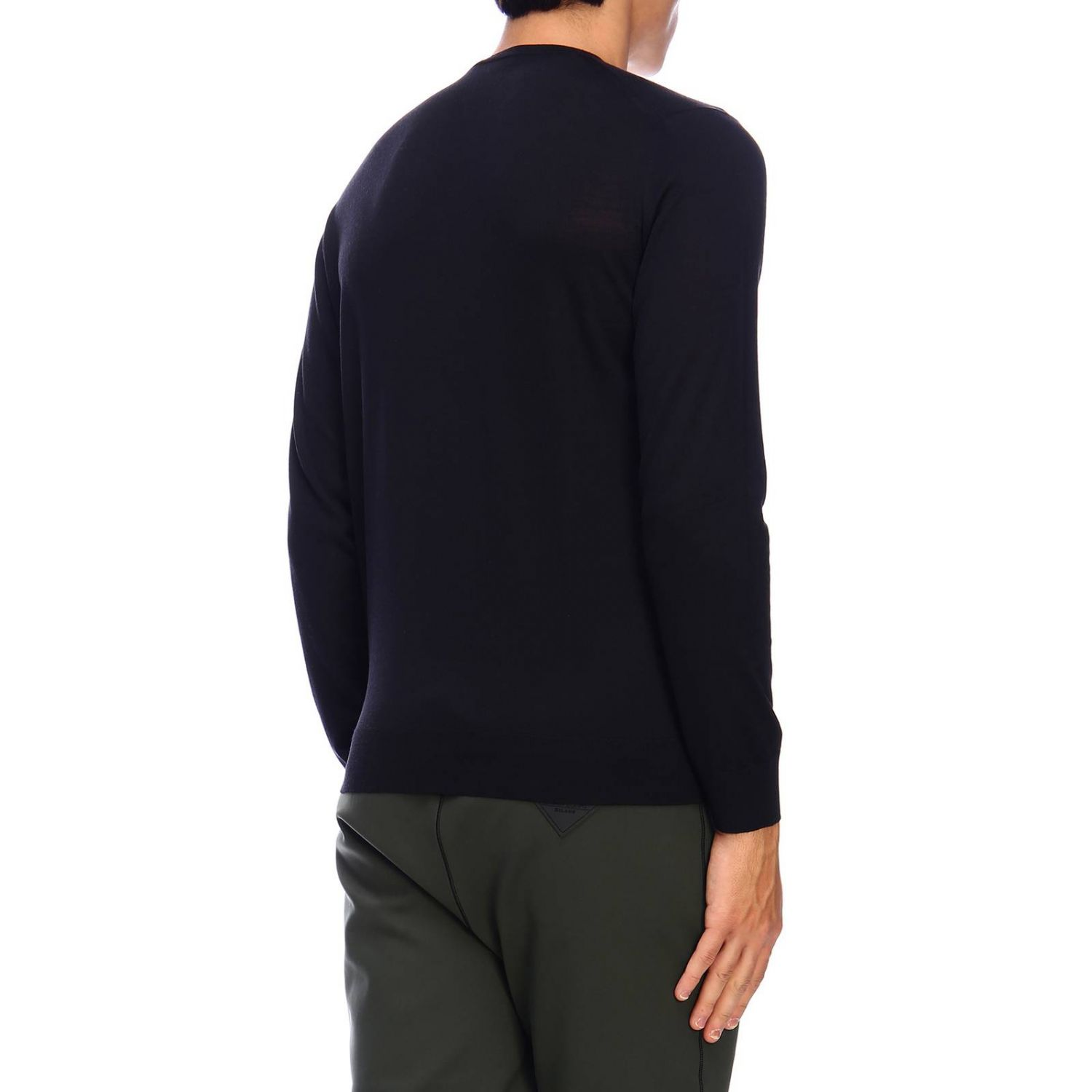 Prada knit sweater in worsted wool with a fineness of 30 black 3