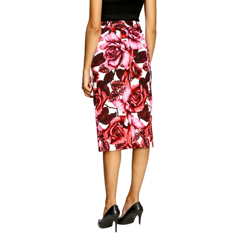 Prada 玫瑰印花纯棉半身裙 粉色 3