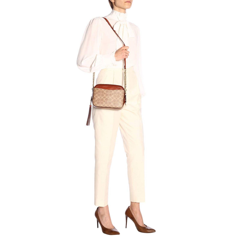 Shoulder bag women Coach leather 2