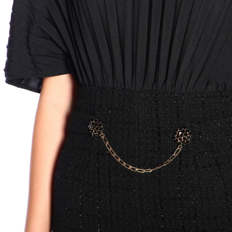 Pinko Sballare short bouclé jumpsuit and jewel chain black 3