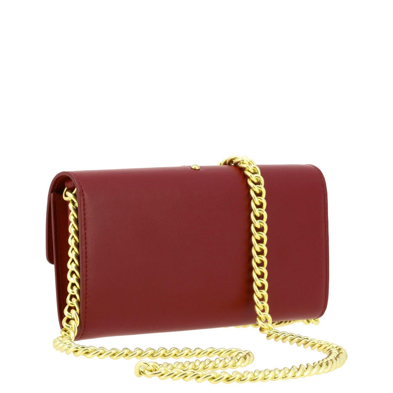 Portefeuille Pinko: Mini Sac Portefeuille Houston wallet Pinko en cuir avec bandoulière bordeaux 3