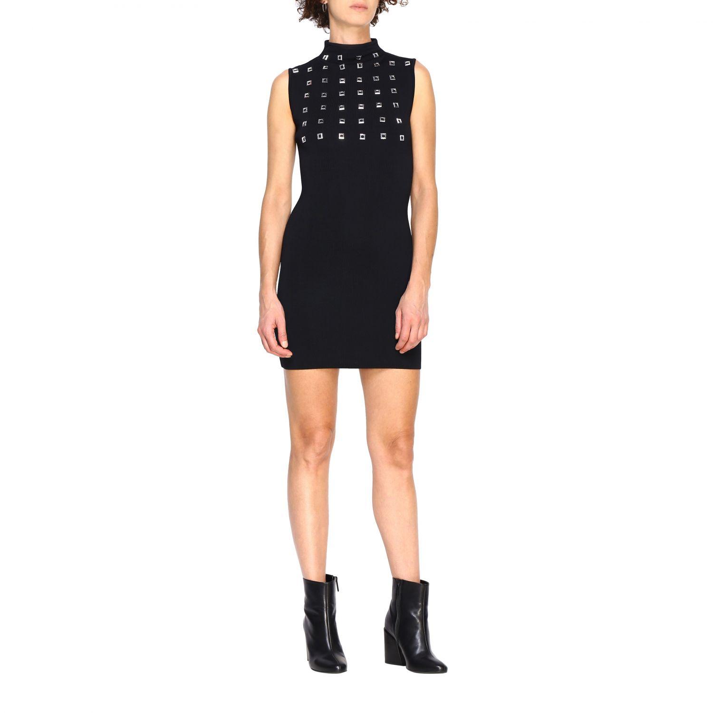 Kleid Pinko: Kurzes Pinko Aborigeno Kleid mit Mini Spiegeln schwarz 1