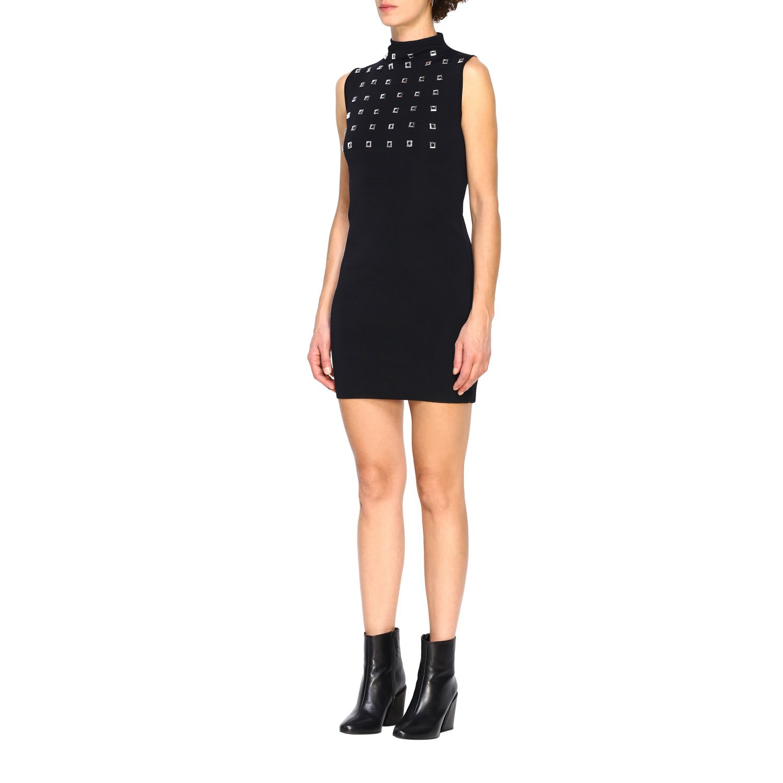 Kleid Pinko: Kurzes Pinko Aborigeno Kleid mit Mini Spiegeln schwarz 3