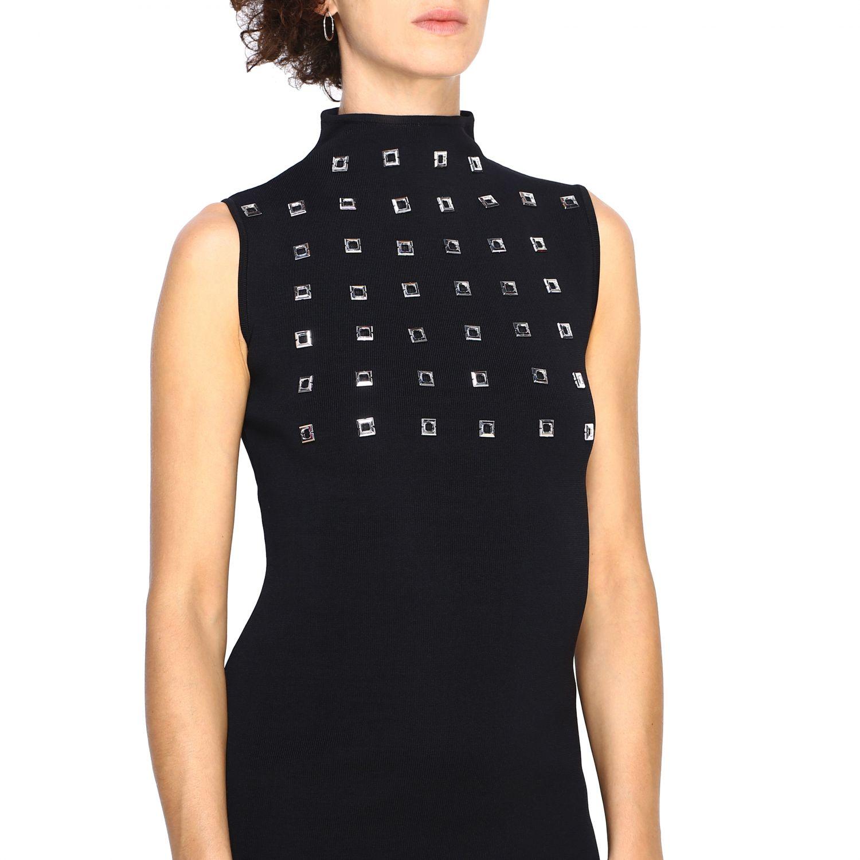 Kleid Pinko: Kurzes Pinko Aborigeno Kleid mit Mini Spiegeln schwarz 4