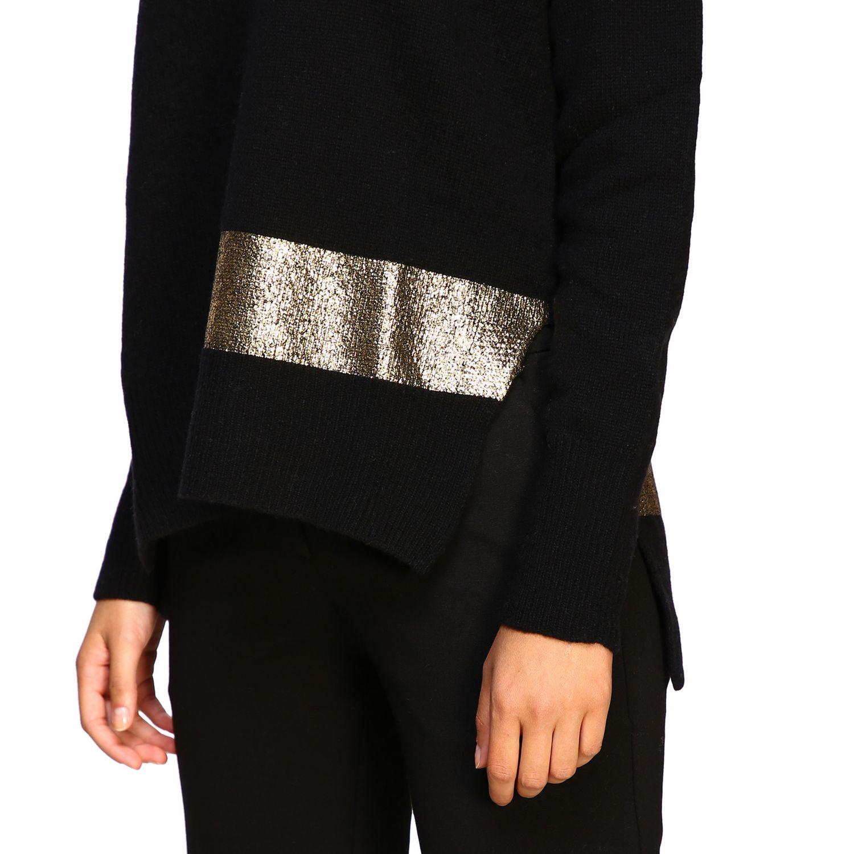 Maglia Pinko: Pullover Giapponese Pinko con maxi dettaglio lurex nero 5