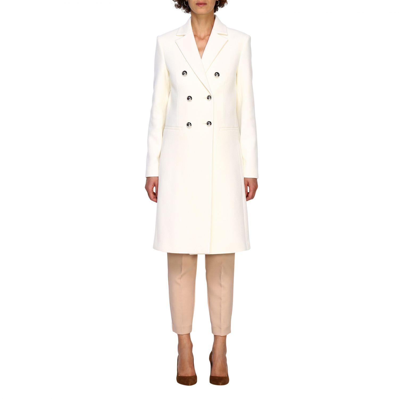 Cappotto Pinko: Cappotto Emozioni Pinko a doppiopetto in panno bianco 1