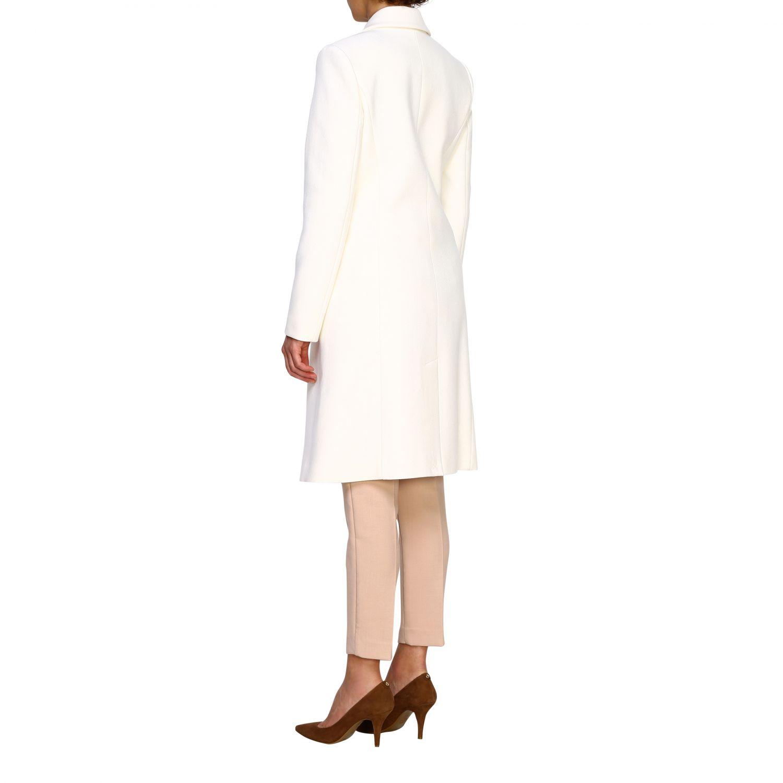 Cappotto Pinko: Cappotto Emozioni Pinko a doppiopetto in panno bianco 3