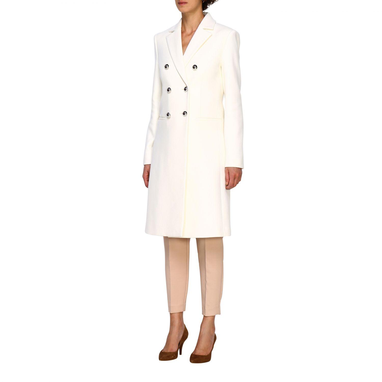 Cappotto Pinko: Cappotto Emozioni Pinko a doppiopetto in panno bianco 4