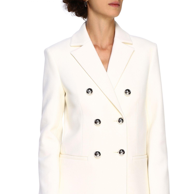Cappotto Pinko: Cappotto Emozioni Pinko a doppiopetto in panno bianco 5