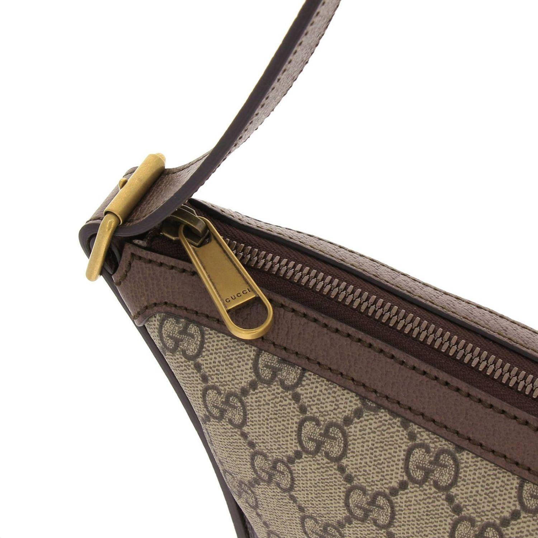 Borsa Ophidia Hobo GG Supreme Gucci con fascia Web e monogramma beige 4