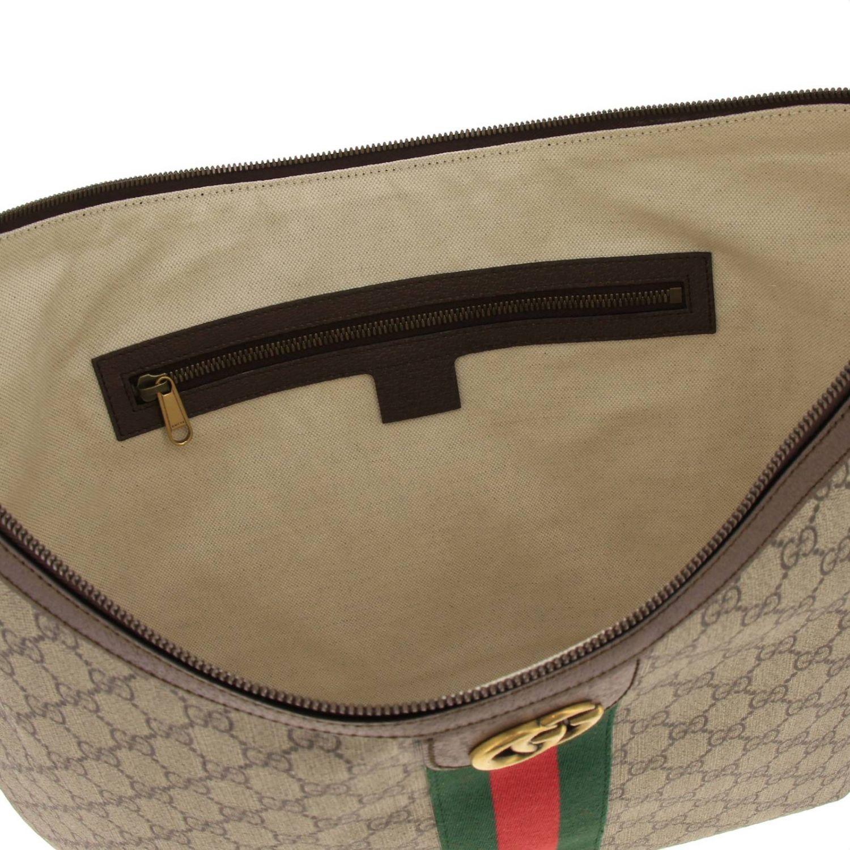 Borsa Ophidia Hobo GG Supreme Gucci con fascia Web e monogramma beige 5