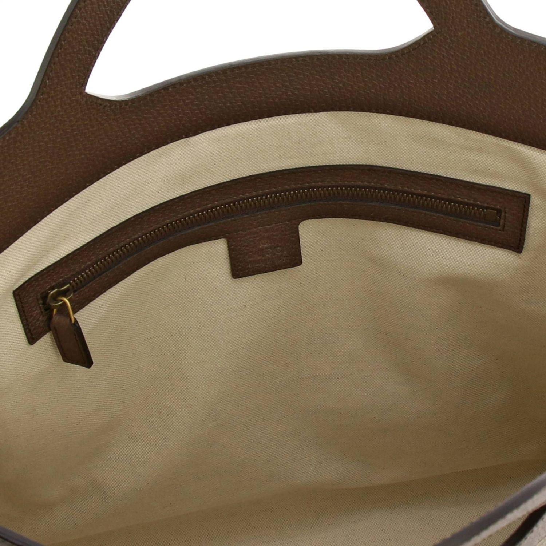 Bolso de mano mediano Ophidia de tejido GG Supreme Gucci con banda web y monograma beige 5