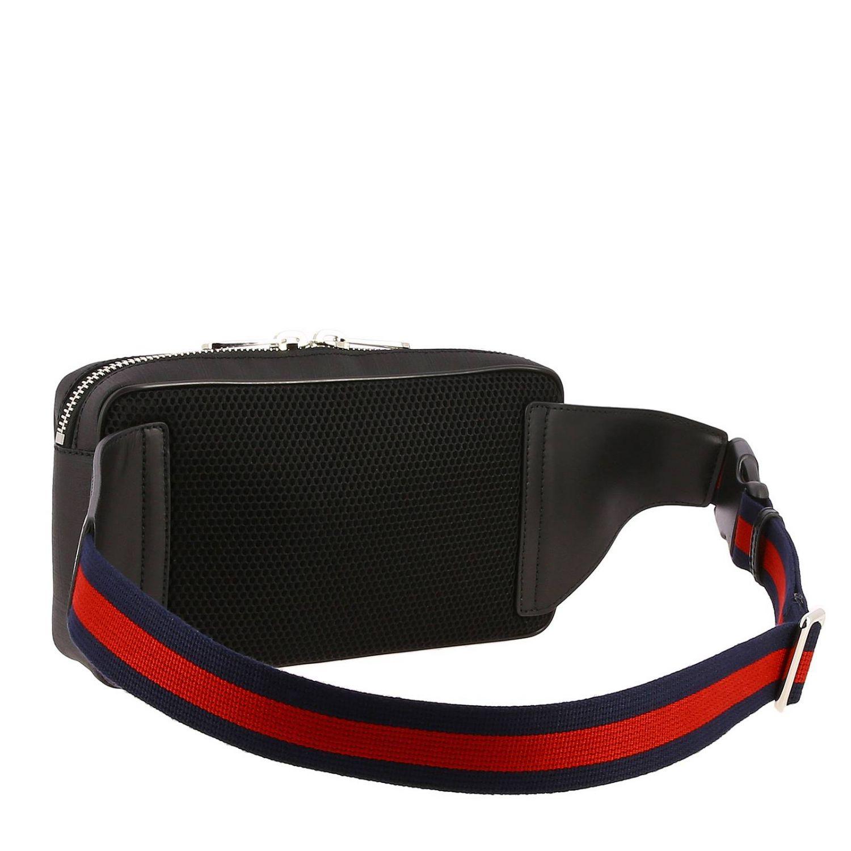 Kleine Full Zip Tasche mit durchgehendem Reißverschluss aus GG Supreme Gucci-Stoff mit Tiger-Aufdruck schwarz 3