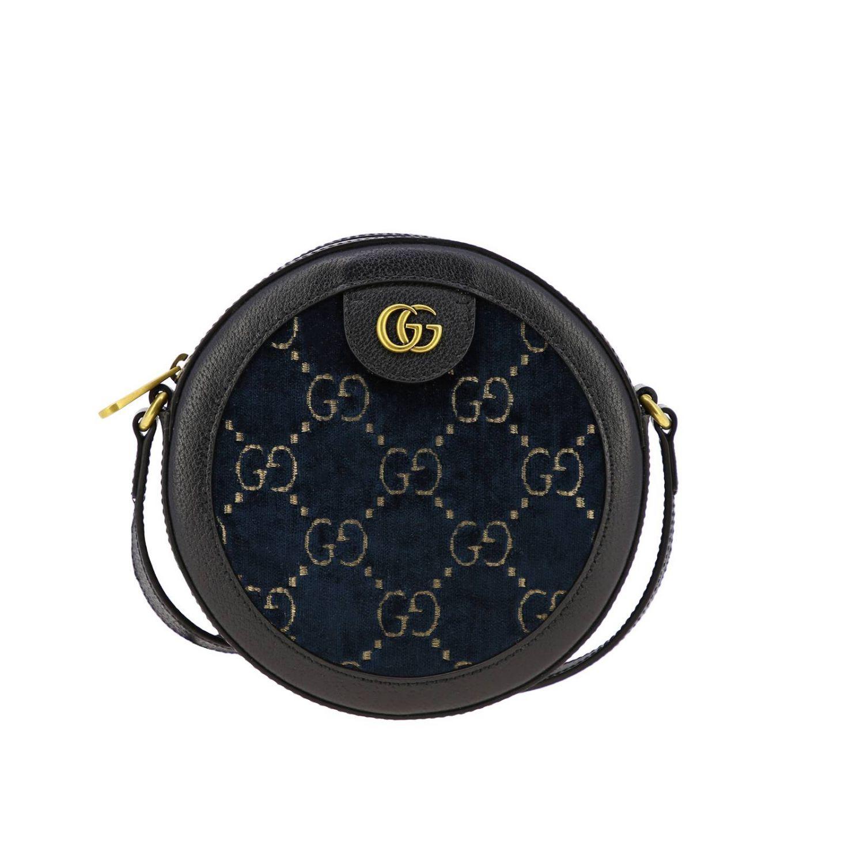 Sac disco bag GG Velvet Gucci bleu 1