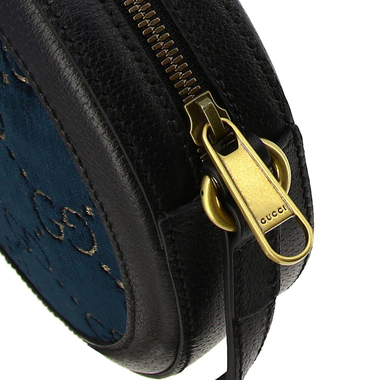 Sac disco bag GG Velvet Gucci bleu 4