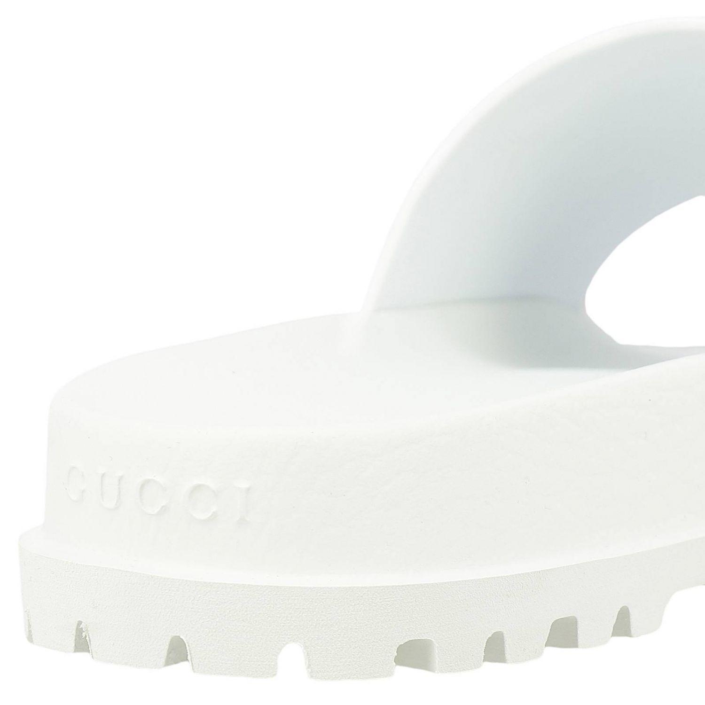 Sandalo Pursuit a ciabatta con fascia in gomma Web Gucci bianco 4