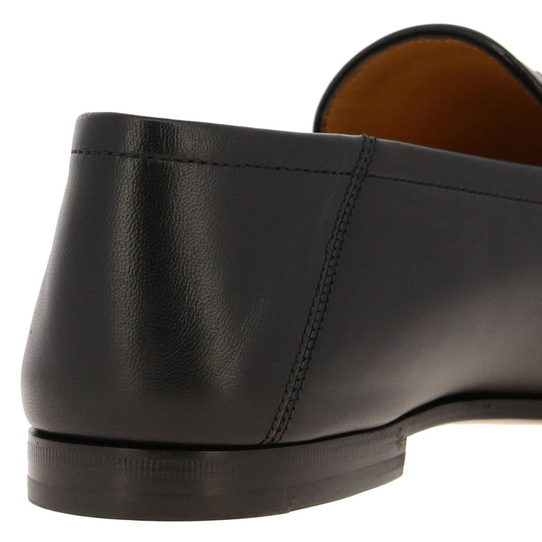 Мокасины Gucci: Мокасины Web brixston Gucci из натуральной кожи с металлической пряжкой черный 4