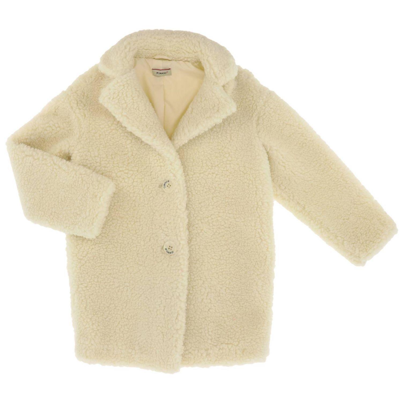 Coat kids Pinko white 1