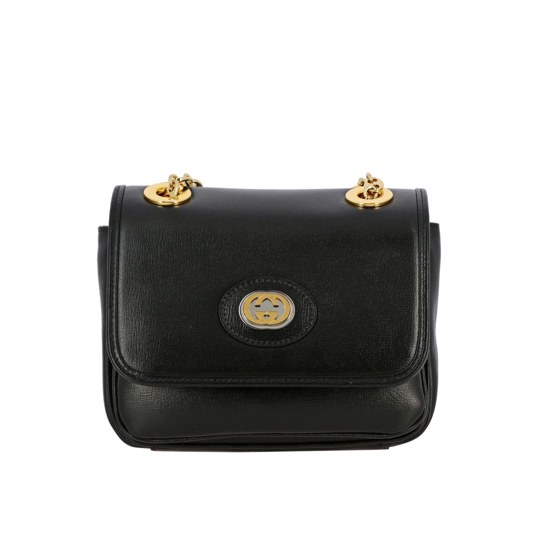 Gucci Marina mini leather bag black 1