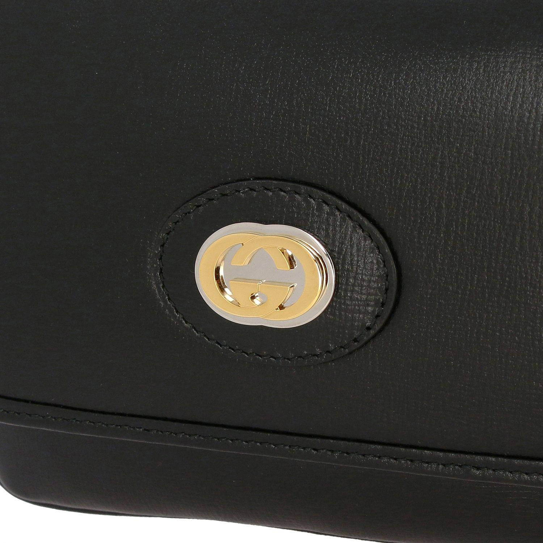 Gucci Marina mini leather bag black 3