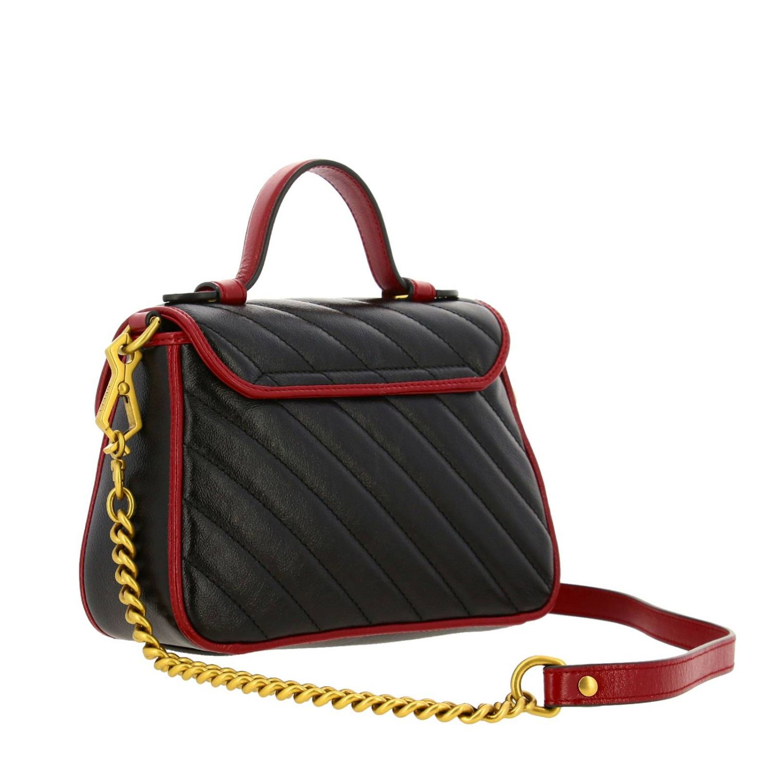 Mini bag Gucci: GG Marmont Gucci mini quilted leather bag with shoulder strap black 2
