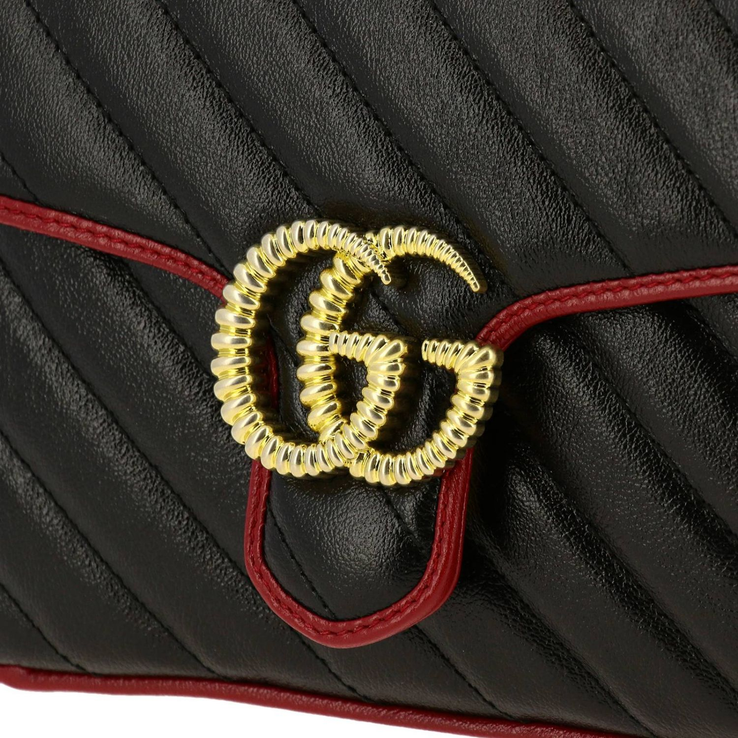 Mini bag Gucci: GG Marmont Gucci mini quilted leather bag with shoulder strap black 3
