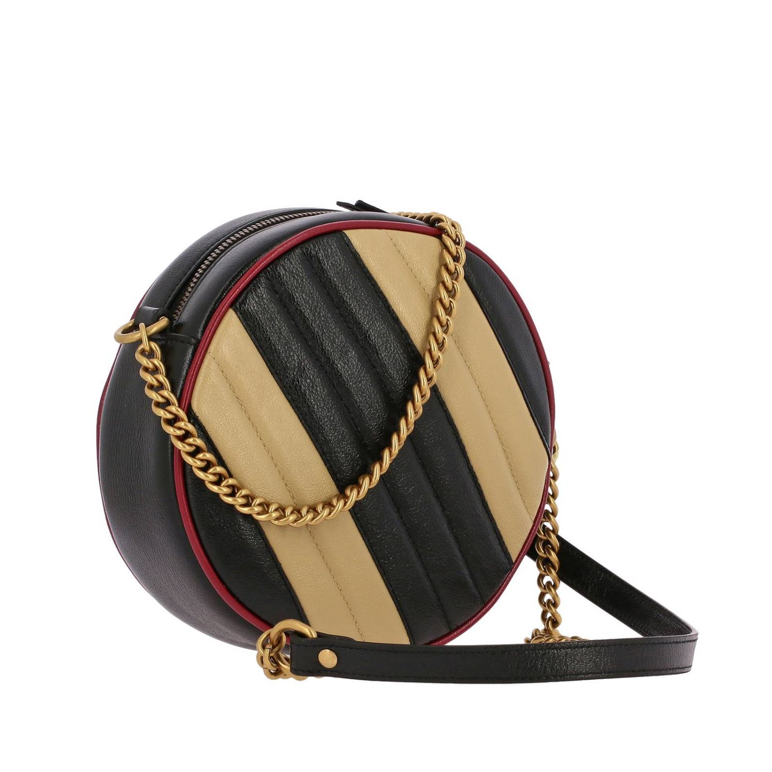 Mini bag Gucci: GG Marmont Gucci quilted leather disco bag with bicolour effect beige 3