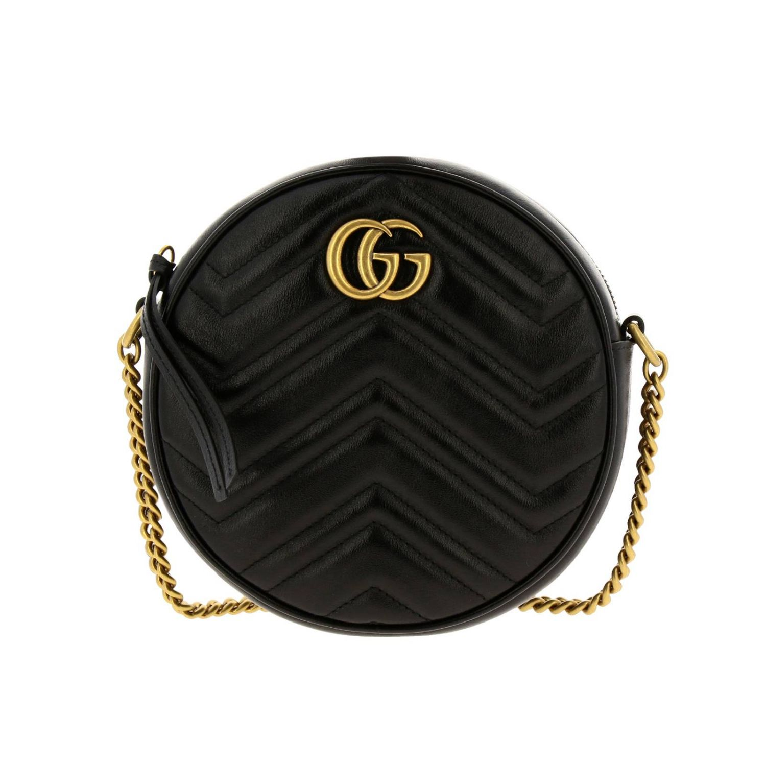 Mini bag Gucci: GG Marmont Gucci quilted leather disco bag black 1