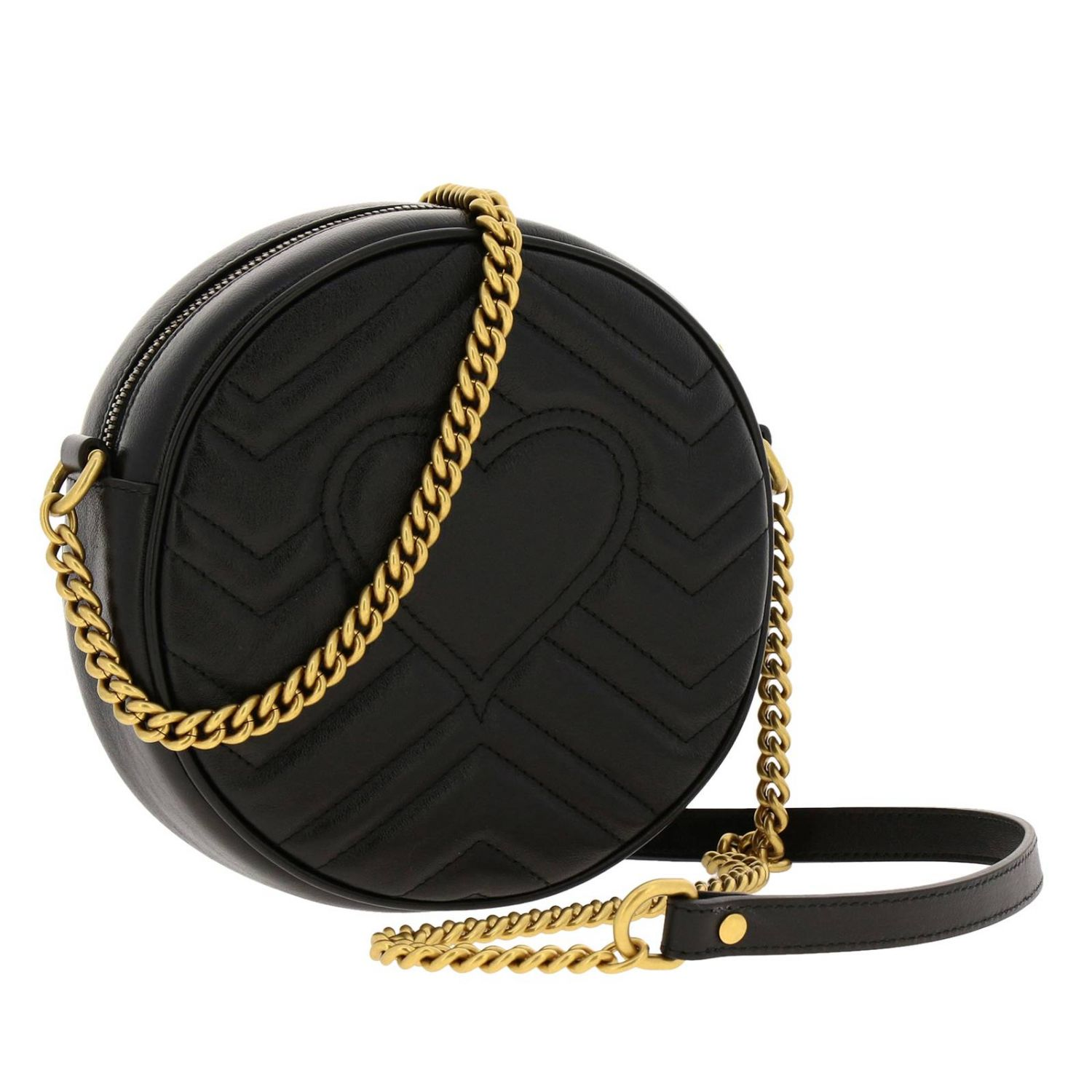Mini bag Gucci: GG Marmont Gucci quilted leather disco bag black 3