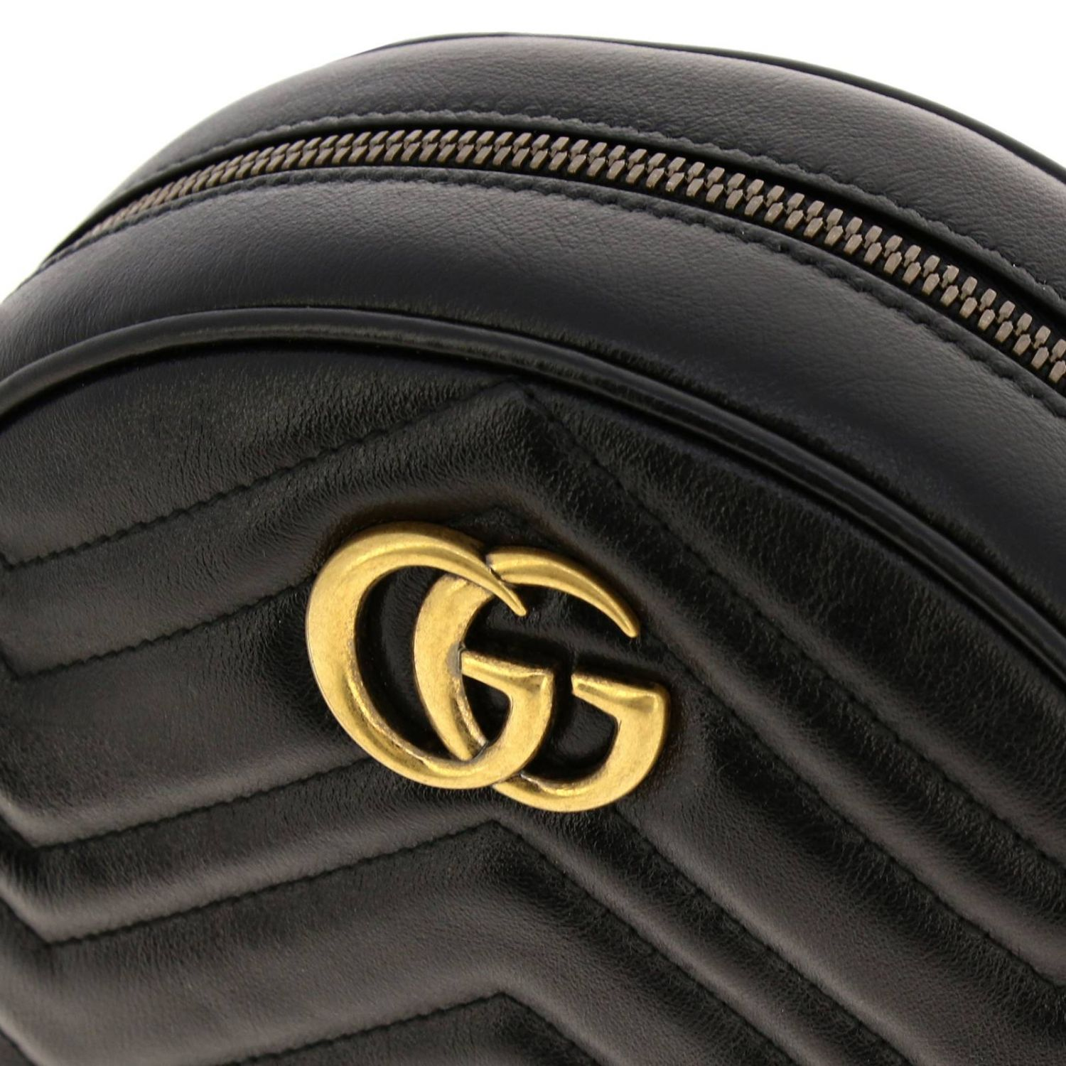 Mini bag Gucci: GG Marmont Gucci quilted leather disco bag black 4