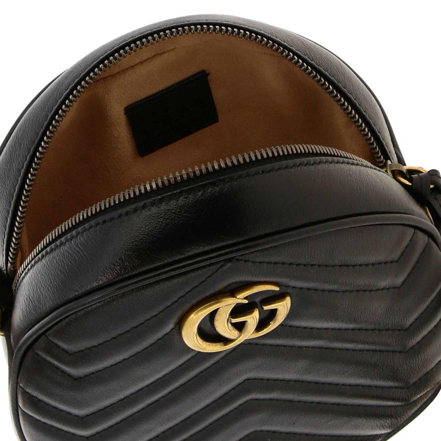 Mini bag Gucci: GG Marmont Gucci quilted leather disco bag black 5