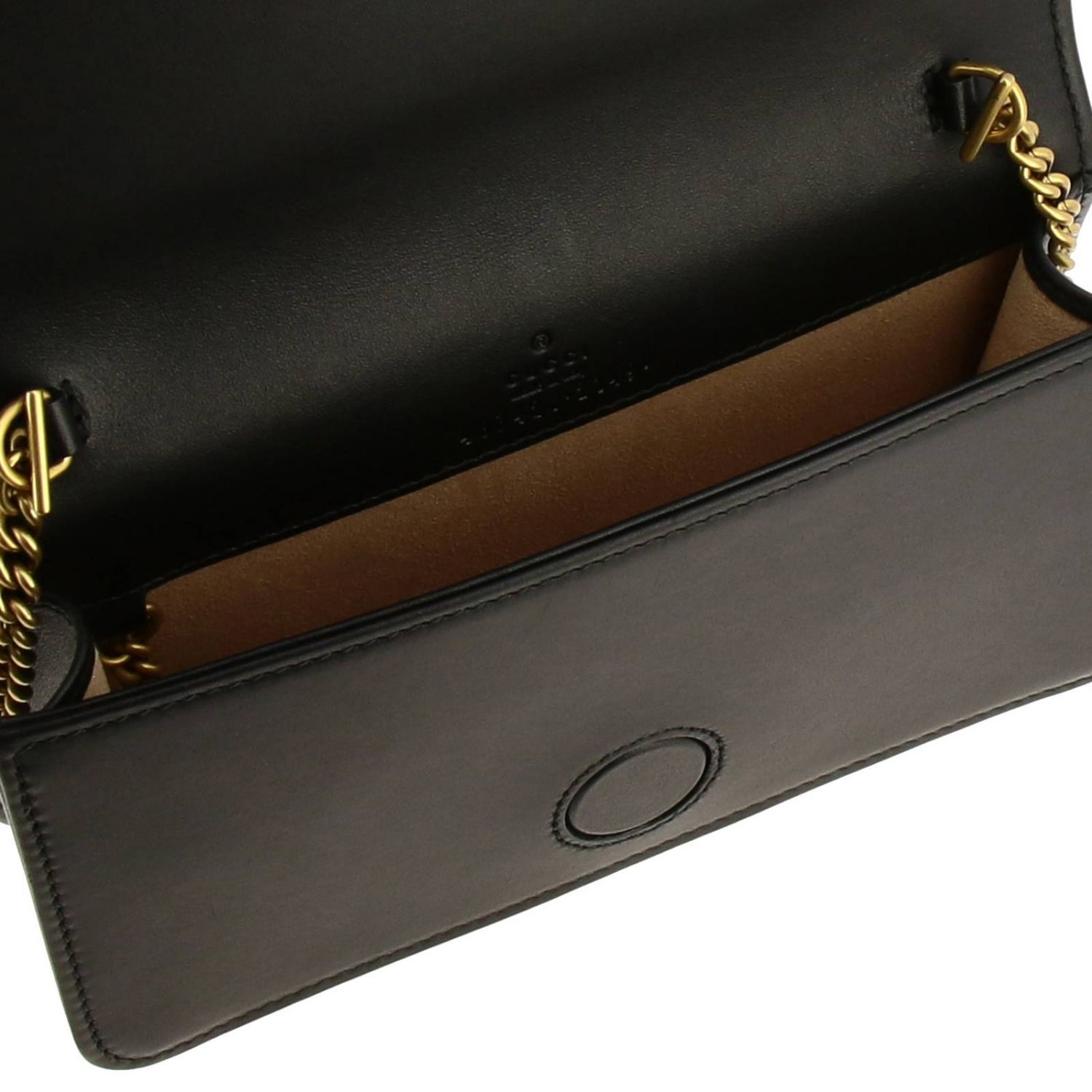 Mini bag Gucci: GG Marmont Gucci genuine quilted leather handbag with chevron pattern black 5